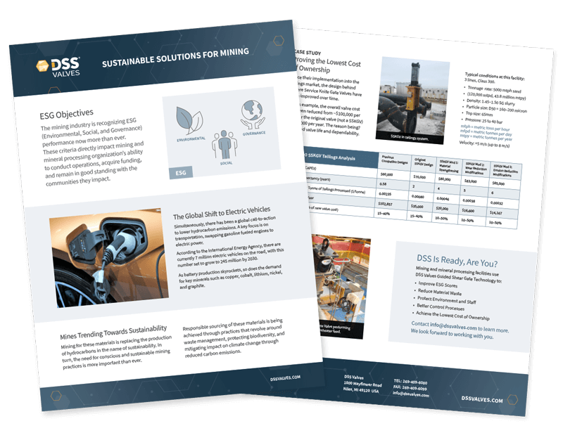 DSS Valves – Sustainable Solutions for Mining Brochure